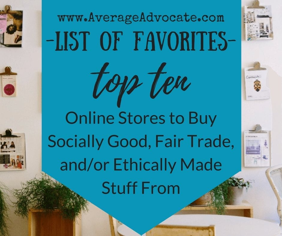 List of Favorite socially good stores