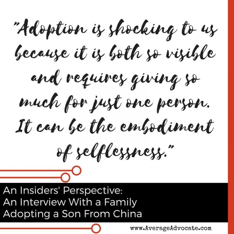 adoption is shocking from An Insiders Perspective: Interivew with a family Adopting a Son from China