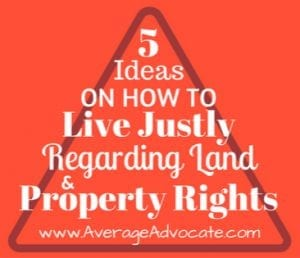 Living Justly for land and property rights