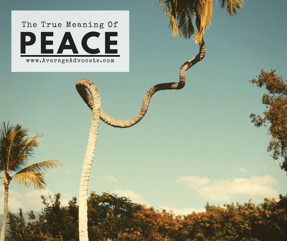 The True meaning of peace