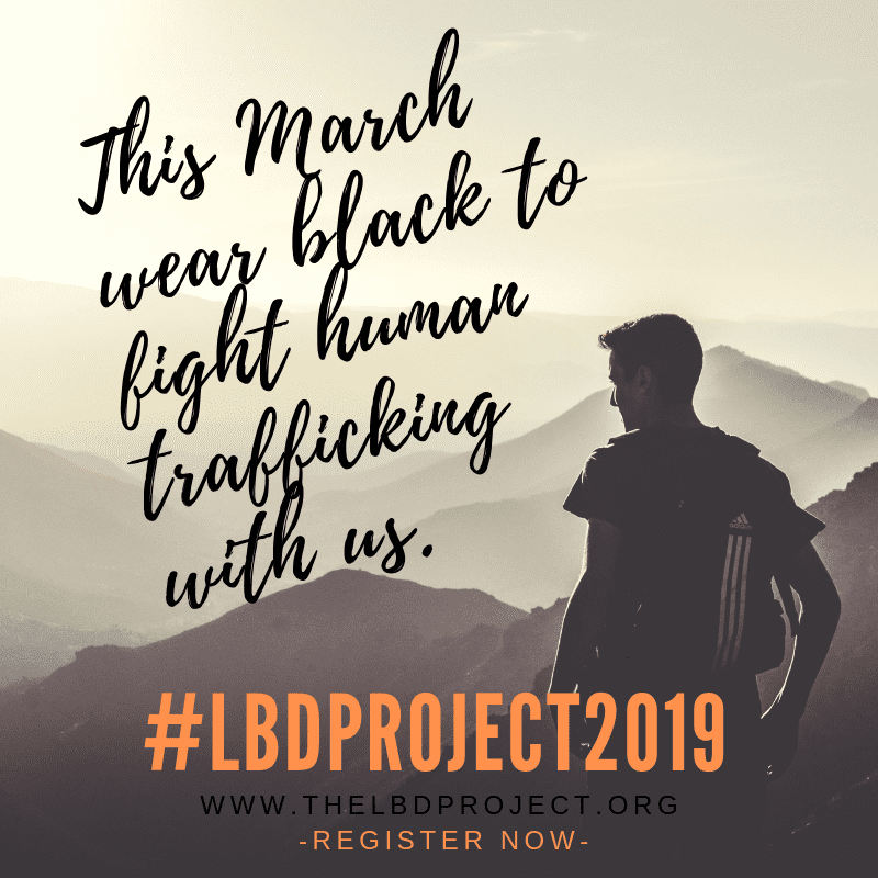 this march wear black to fight human trafficking