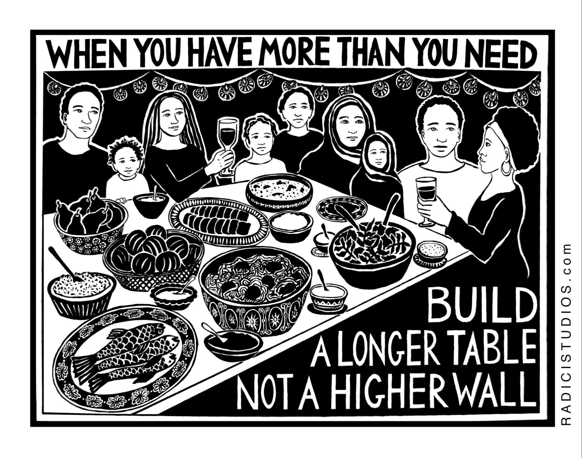 Build a Bigger Wall or Build a Longer Table?
