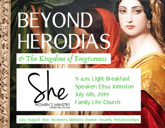 Beyond Herodias the Kindgom of Forgiveness