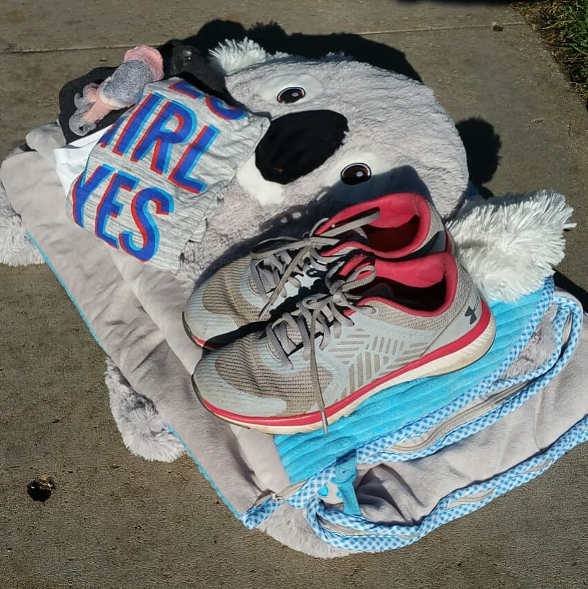 clothing, shoes, sleeping bag with #threetoflee change by world relief