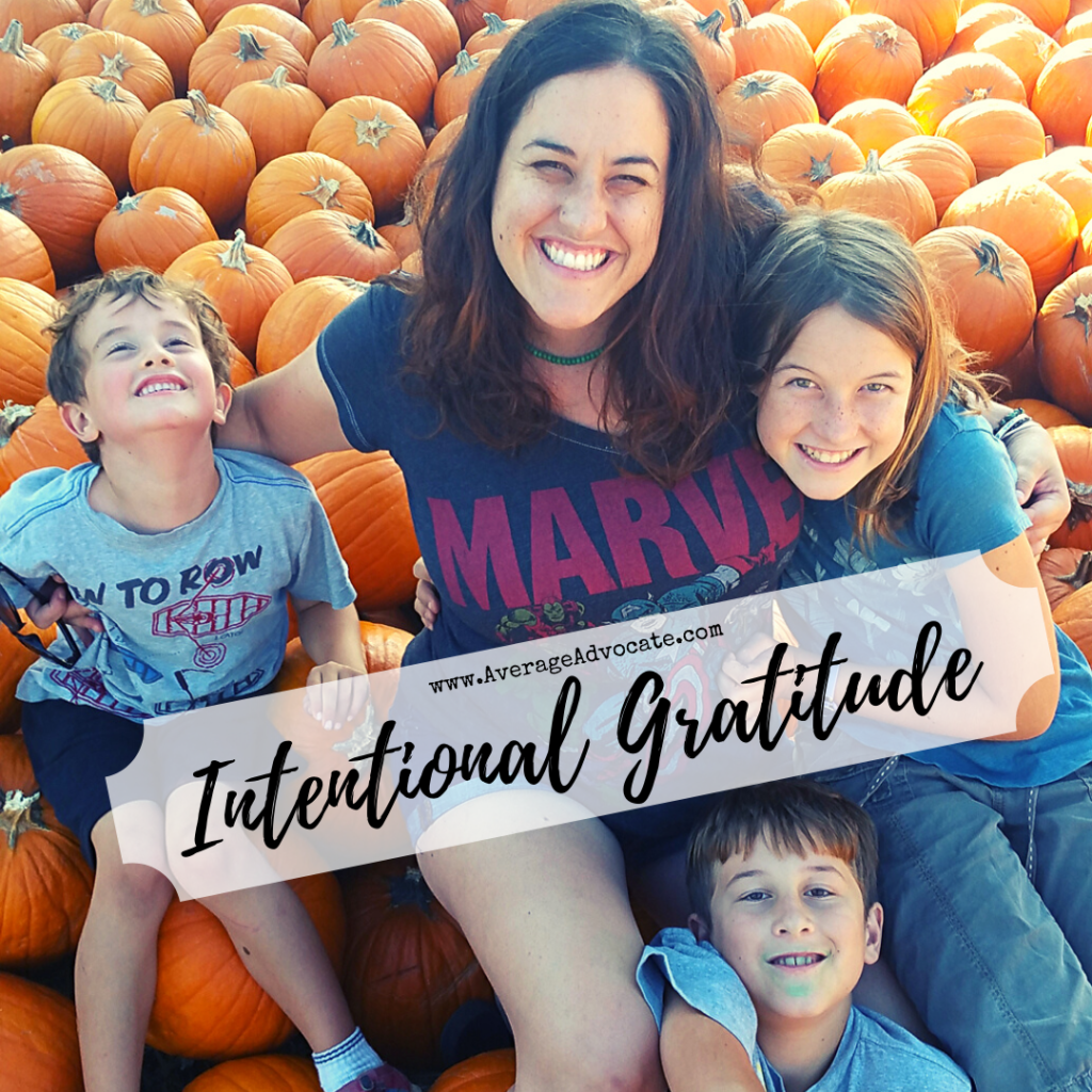 Intentional Gratitude with your family to make a difference in your home