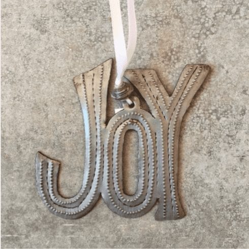 Joy ornament from Haiti