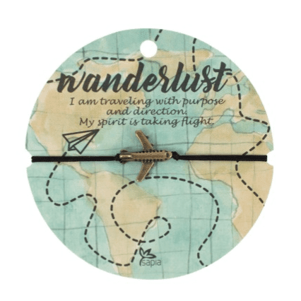 I love this wanderlust bracelet from sapia