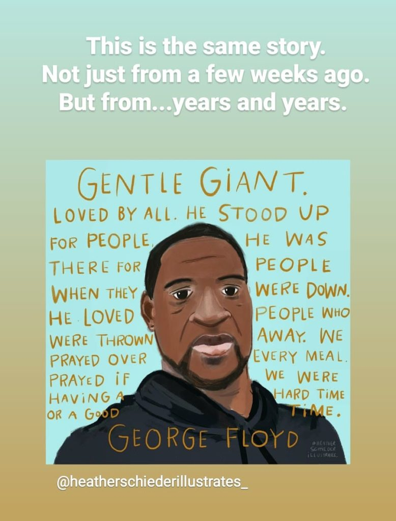 Justice for George Floyd artwork