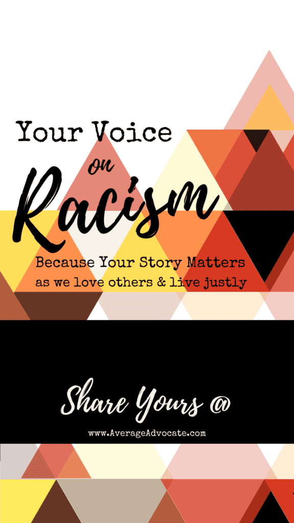 What is your voice on racism? We need to hear it.