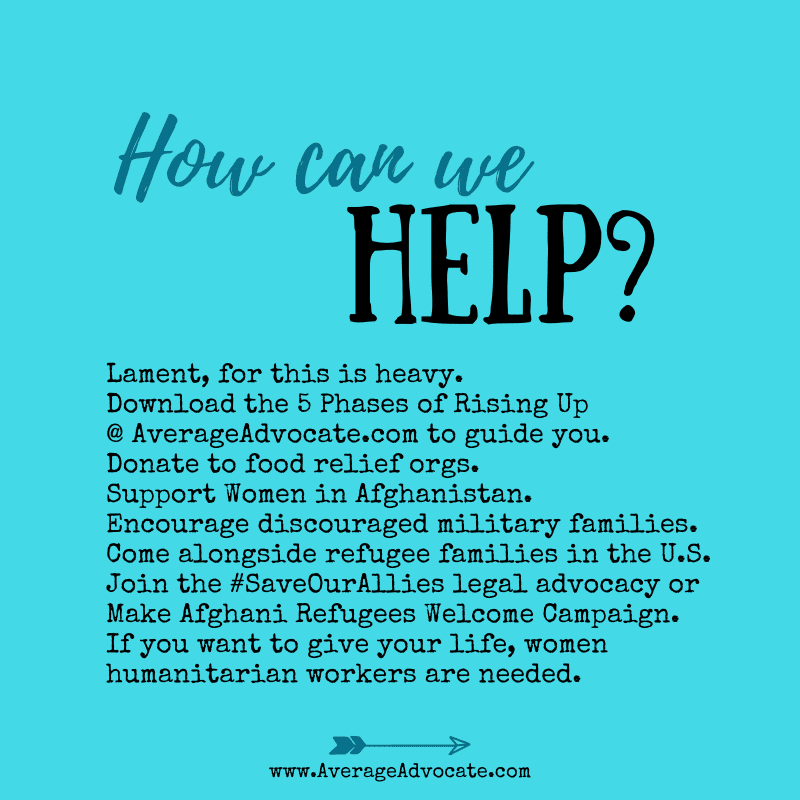 How can we help afghanistan